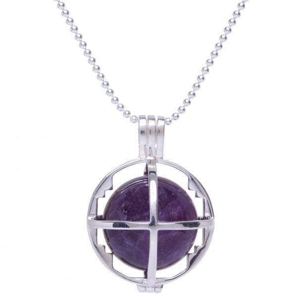 Kim Minchin The Roxy Cage - Silver with Amethyst