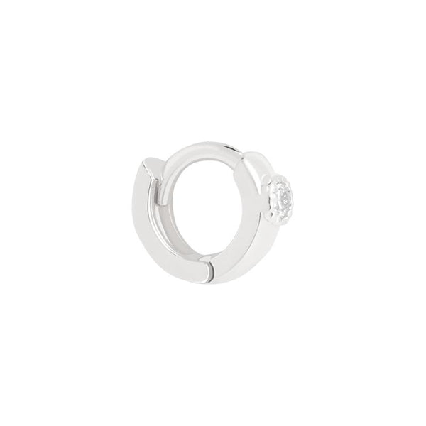 Astrid & Miyu Single Stone Clicker in Silver