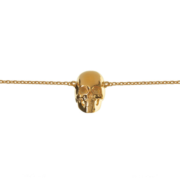 Kim Minchin Skull Chain Bracelet Gold