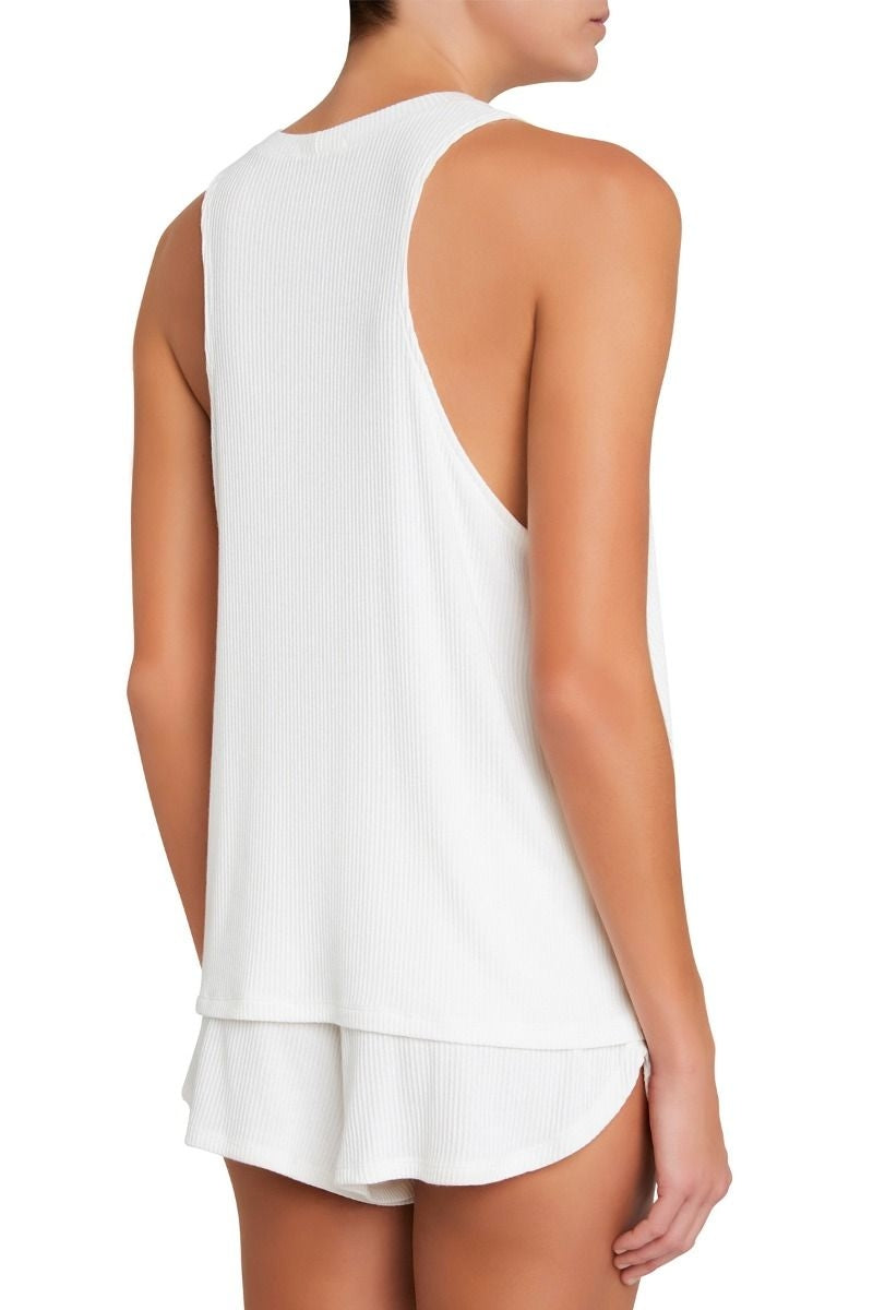 Eberjey Elon The Muscle Tank in Ivory