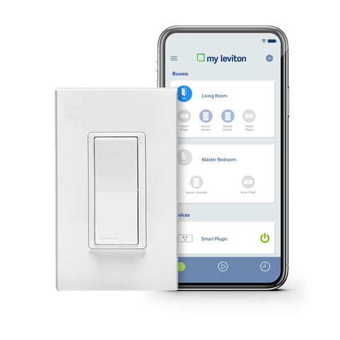 Leviton Decora Smart Wi-Fi 15A Universal LED / Incandescent Switch. Fonctionne avec Amazon Alexa et Google Assistant, aucun concentrateur requis.
