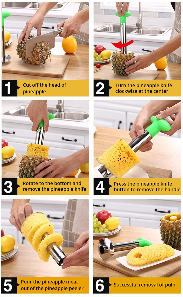 how to use pineapple cutter