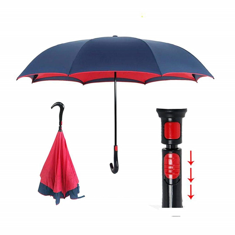 Magical Umbrella With C-Shaped Handle