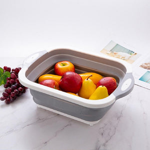 Load image into Gallery viewer, 3 in 1 Foldable Cutting Board, Draining Fruit Basket & Washing Bowl