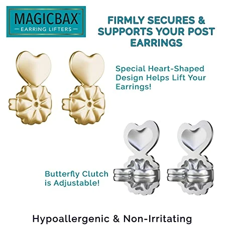 Earring Backs Support Earring Lifts Fits