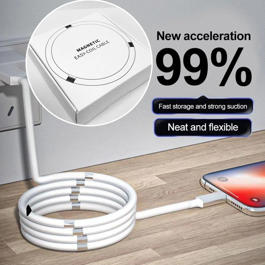 Sleek iOS Magnetic USB Lightning Fast Charging cable