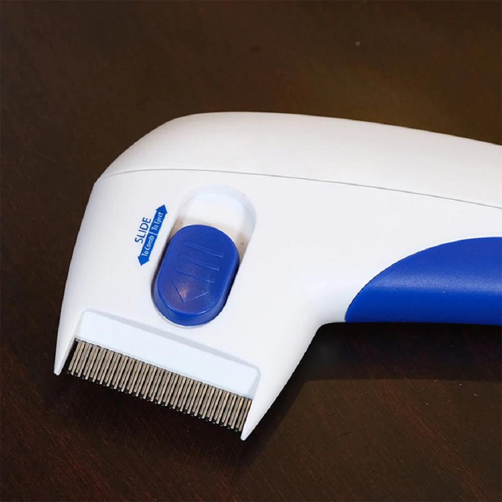 Flea Killer Electric Comb - Great Doctor For Pets + Pet Hair Remover