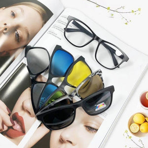 Load image into Gallery viewer, 5 In 1 Clip Polarised Sunglasses