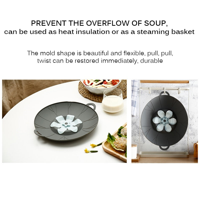 Anti-overflow splash Silicone Cover