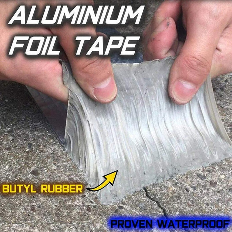 Load image into Gallery viewer, Aluminum Foil Rubber Tape