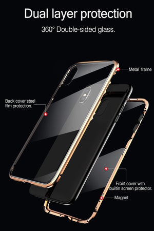 Protection Magnetic Fit Case For iPhone