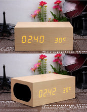 Load image into Gallery viewer, Wooden Wireless Charger Clock for iphone/samsung/Qi enabled Devices