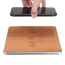 Load image into Gallery viewer, Dual Wooden Fast Wireless Charger for iphone/samsung/Qi enabled Devices