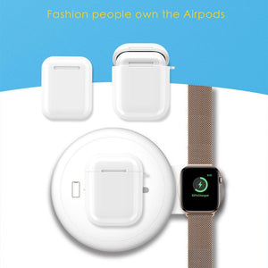 2-in-1 Qi Wireless Charger for iphone/samsung/Qi enabled Devices