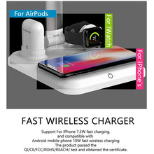 Load image into Gallery viewer, 4-in-1 Wireless Charger with Lamp Functionality for iphone/samsung/Qi enabled Devices