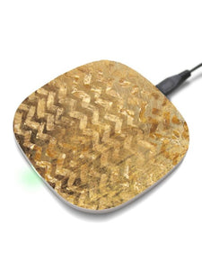 Gold print wireless charger for iphone/samsung/Qi enabled Devices