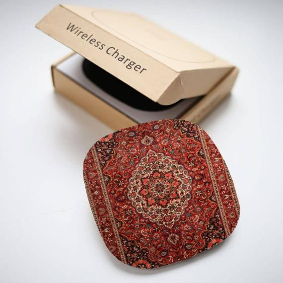 Persian Rug Wireless Charger for iphone/samsung/Qi enabled Devices