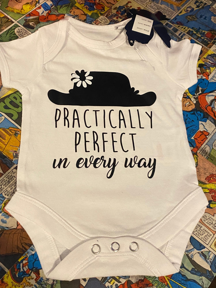 Mary Poppins inspired Baby Vest