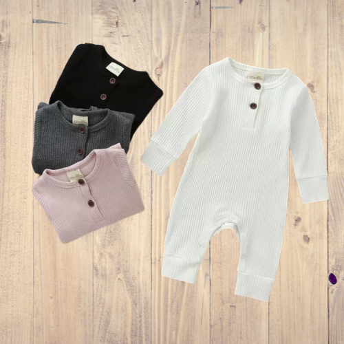 Baby Ribbed Romper Suit