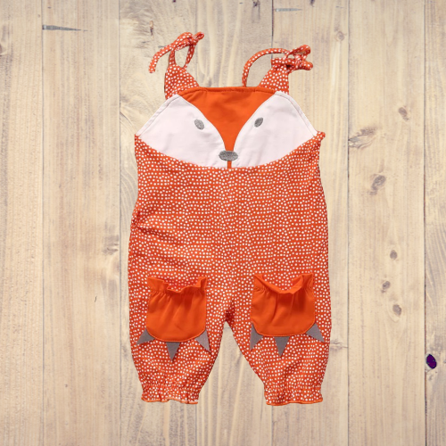 Animal Jumpsuit Sleeveless Fox Romper