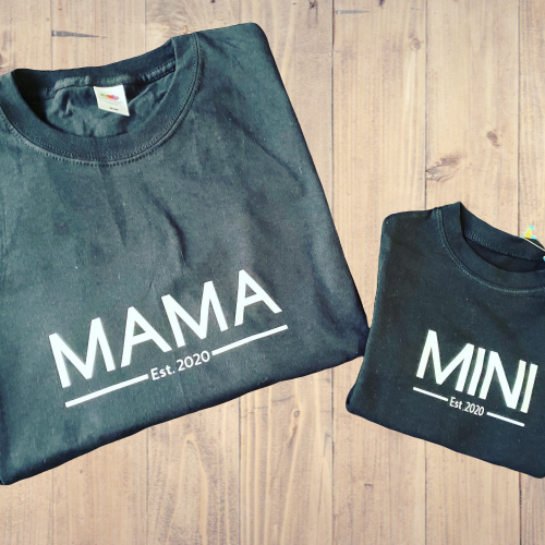 Mama and Mini Matching T-shirts - Personalise Me