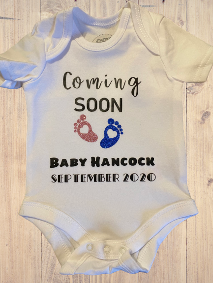 Baby Announcement Vest - Personalise Me