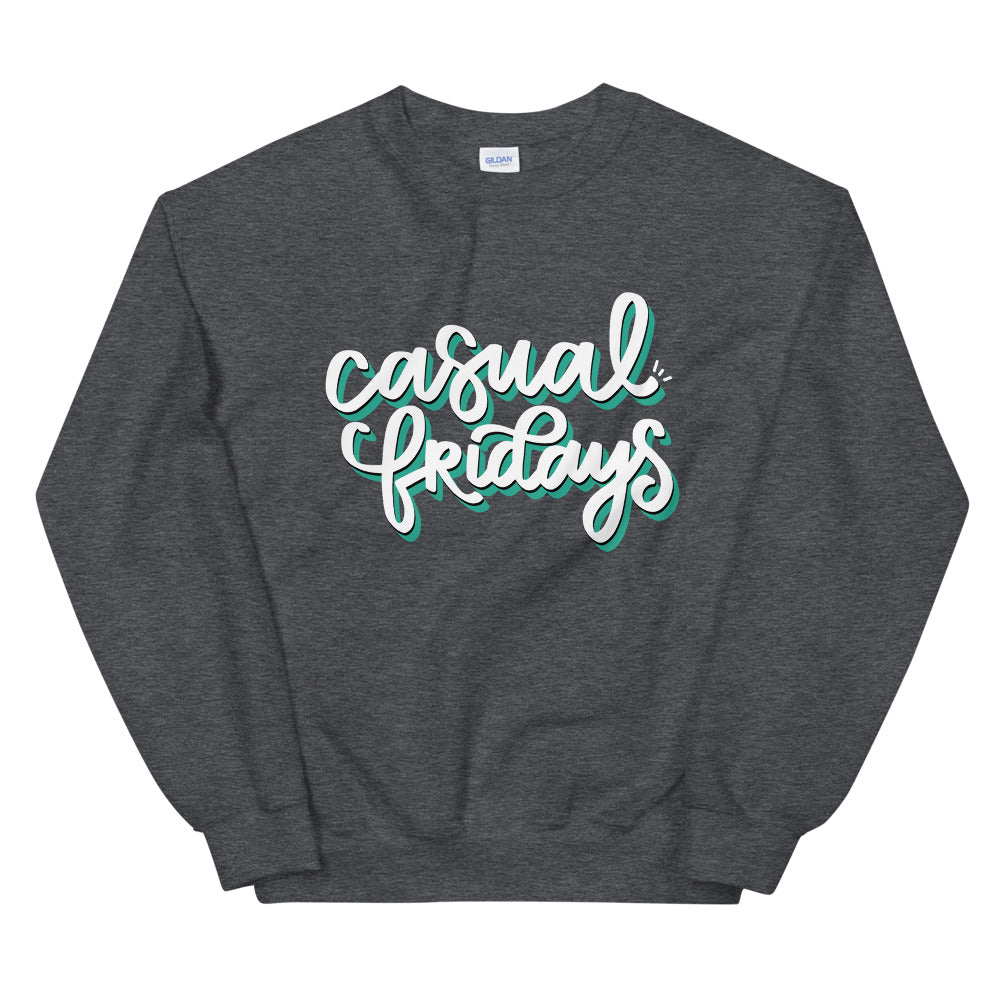 Casual Fridays Charcoal Graphic Sweatshirt | Kerra Sun Creative