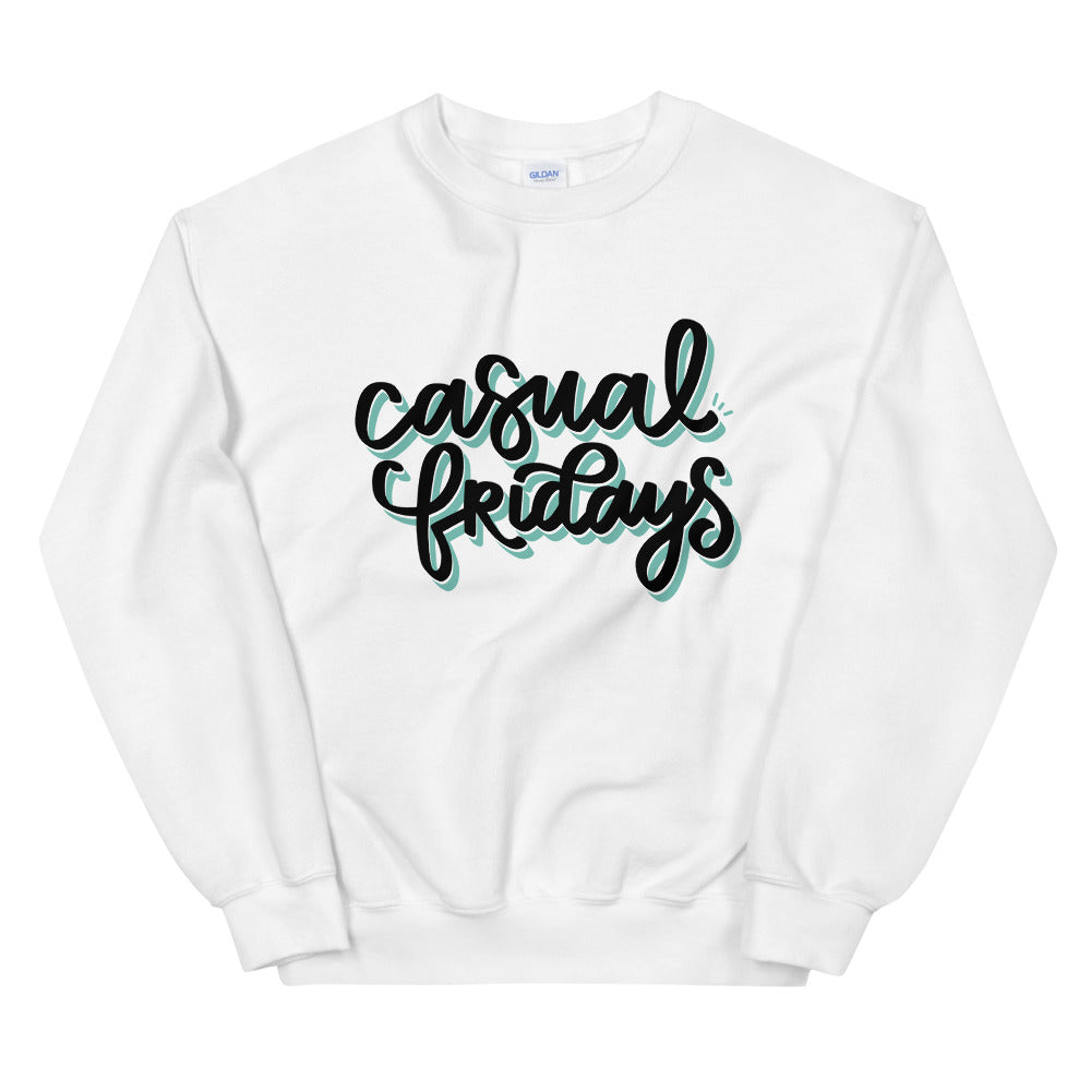 Casual Fridays White Graphic Sweatshirt | Kerra Sun Creative