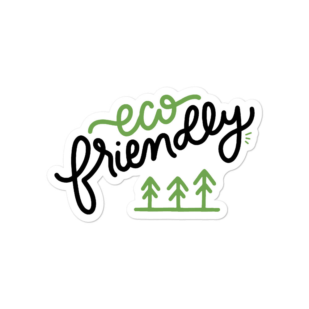 """Eco Friendly"" Hand Lettering as a Sticker 