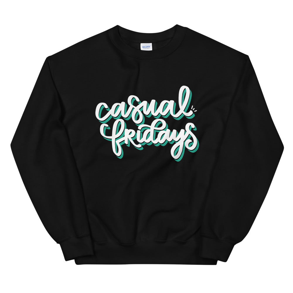 Casual Fridays Black Graphic Sweatshirt | Kerra Sun Creative