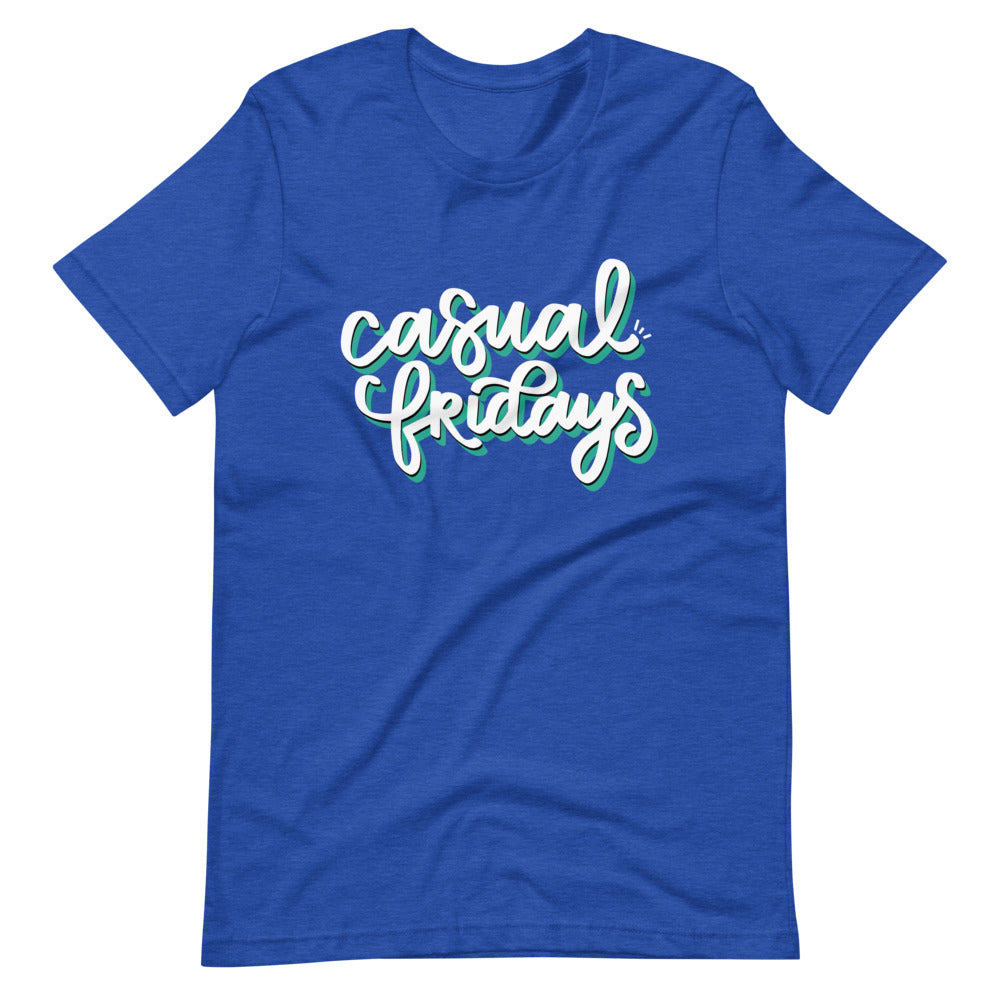 Casual Fridays Heather Royal Graphic Shirt | Kerra Sun Creative