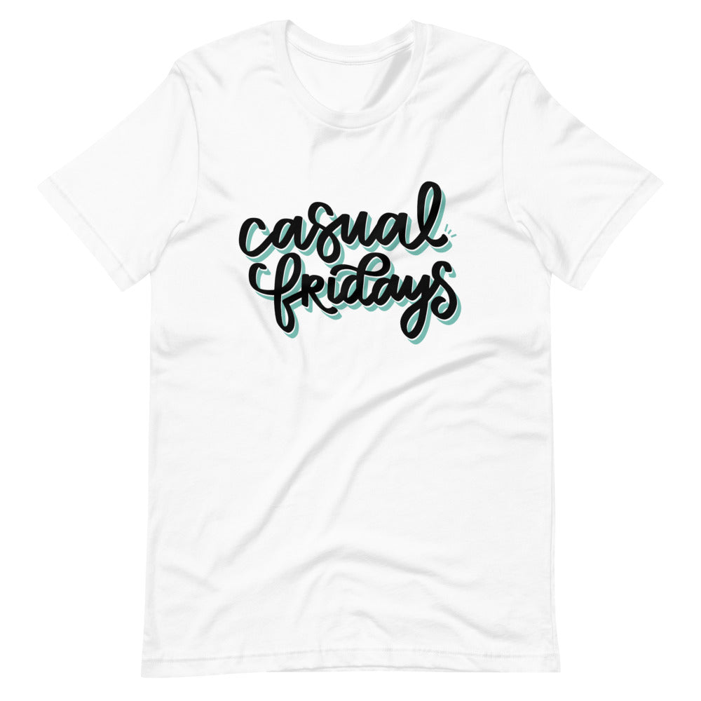 Casual Fridays White Graphic Shirt | Kerra Sun Creative