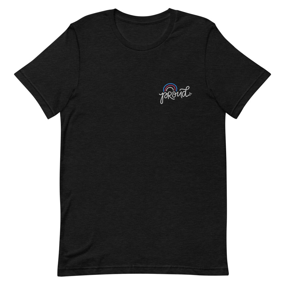 Proud Trans Embroidered Shirt