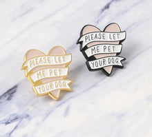 Load image into Gallery viewer, Heart Banner Enamel Pin - Pet Fresh Forever