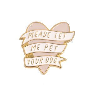 Heart Banner Enamel Pin - Pet Fresh Forever