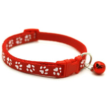 Load image into Gallery viewer, Paw Print Collar with Bell - Pet Fresh Forever