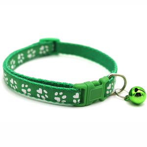 Paw Print Collar with Bell - Pet Fresh Forever