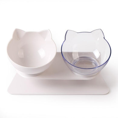 Elevated Tilted Cat Bowl