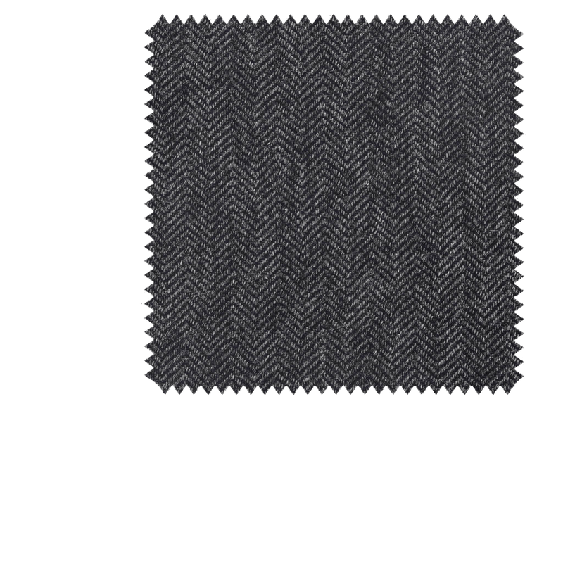 Bespoke Grey Herringbone Cashmere Tie 290 - Exquisite Trimmings