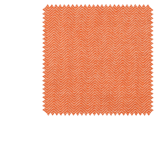 Bespoke Orange Herringbone Cashmere Tie 297 - Exquisite Trimmings