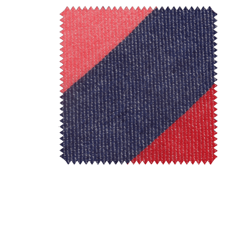 Bespoke Pink/Navy Block Stripe Cashmere Tie 306 - Exquisite Trimmings