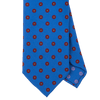 Blue Macclesfield Print 36oz Silk Ties B20 (8cm & 9cm) - Exquisite Trimmings