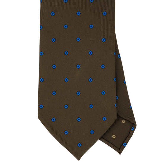 Brown Macclesfield Print 36oz Silk Ties BR7 (8cm & 9cm) - Exquisite Trimmings
