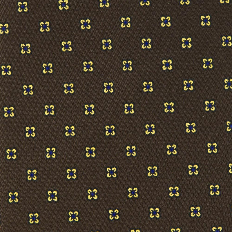 Brown Macclesfield Print 36oz Silk Ties BR8 (8cm & 9cm) - Exquisite Trimmings