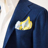 Slowboy for Ring Jacket Blue Beekeeper Pocket Square