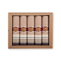 "+ Mileta 5-Pack ""Cigar Box"" Cotton Handkerchiefs"