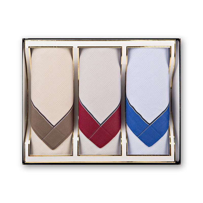 + Mileta 3-Pack Woven Cotton Handkerchiefs