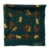 Exclusive Green Rabbit Print Silk/Wool Pocket Square - Exquisite Trimmings