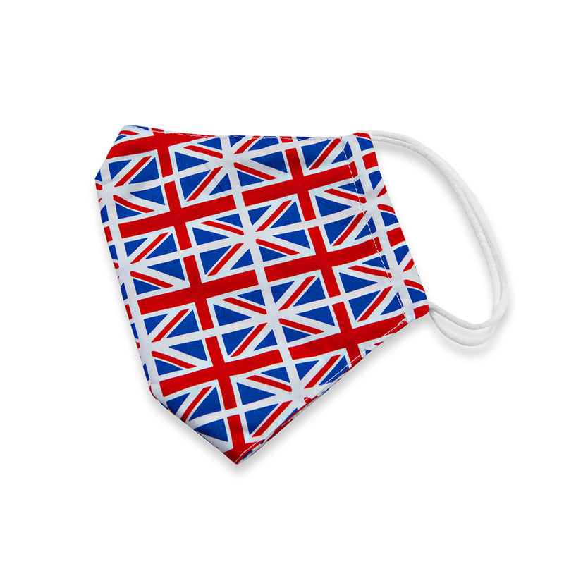 Union Jack Print Cotton Face Mask