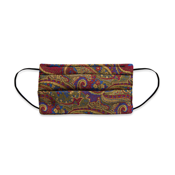 Oversize Paisley Woven Silk Face Mask